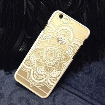 ca DCCKTM4 Plastic iPhone 6 Case, Clear iPhone 6 plus Cover with  Lace Print, Bohemian Phone Cover, Mandala Print Cover, Henna Case, Ethnic iPhone Case [8295697799]