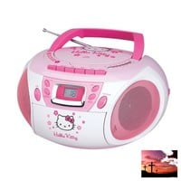 Hello Kitty Stereo CD Boombox with Cassette Player/Recorder and AM/FM Radio