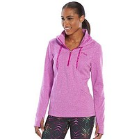Fila Sport Fleece Quarter Zip Hawaiian Orchid Running Hoodie