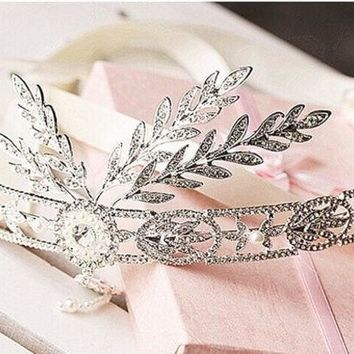 2014 The New! The Great Gatsby High Grade Korean Wedding Bride Tiara Crown Wedding Wedding Dress Accessories Hair Accessories = 1930183428