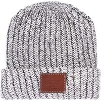 Love Your Melon Black Speckled Cuffed Beanie