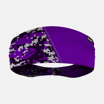 Arsenal Digi Camo Purple Black Gray Headband