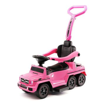 MERCEDES G63 AMG 6X6 CHILDREN ELECTRIC RIDE ON CONVERTIBLE PUSH AND FOOT TO FLOOR CAR   PINK