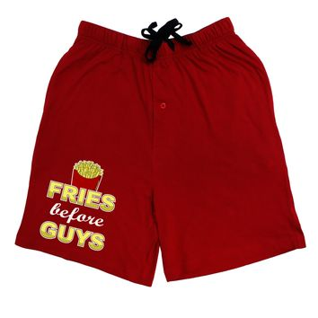 Fries Before Guys Adult Lounge Shorts  by TooLoud