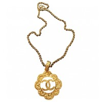 Gold metal necklace CHANEL Gold