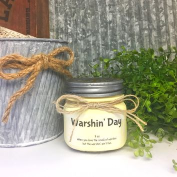 Warshin Day Scented Candle