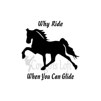 TWH Horse Decal Tennessee Walking Horse saying / Walker decals, stickers  / Vinyl Mirror Window Truck Car Vehicle decals / Cowgirls Loft