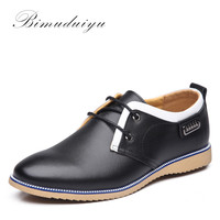 Fashion Stitching Men's Spring Casual Shoes Quality Cow Split Leather Dress Suits Wedding Shoe Young Style