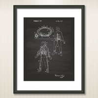 Space Suit 1973 Patent Art Illustration - Drawing - Printable INSTANT DOWNLOAD - Get 5 colors background