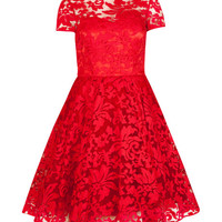 Sheer floral dress - Red | Dresses | Ted Baker ROW