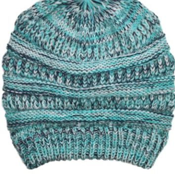 BLIZZARD BEANIE IN TEAL MULTI