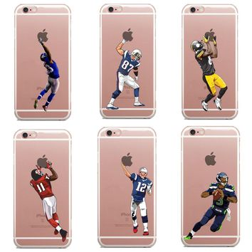 Football Dynamic Cartoon Cases for iPhone