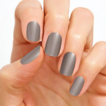 100% Real Nail Polish Strip Color Street - London Fog (Buy 3 get 1 Free)