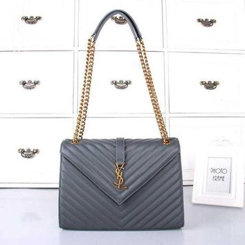 One-nice™ YSL Women Shopping Bag Leather Chain Satchel Shoulder Bag Crossbody