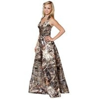 Camo Formal Wear :: Formal Long :: Realtree Camo Long Gown with Sweetheart Neck - The RealStore at Realtree.com