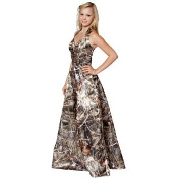 bec327807a59f Camo Formal Wear :: Formal Long :: Realtree Camo Long Gown with Sweetheart  Neck