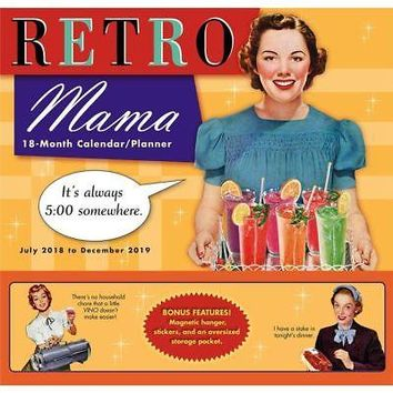Retro Mama Pocket Wall Calendar, Family Organizer by Sellers Publishing