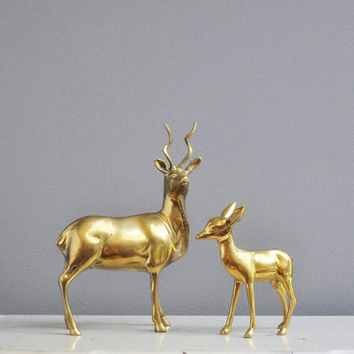 Vintage Deer Figurines - Antelope and Fawn