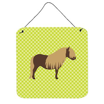 Shetland Pony Horse Green Wall or Door Hanging Prints BB7740DS66