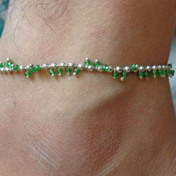 beaded anklet,indian anklet,foot jewelry,ethnic indian anklet,belly dance indian jewelry,bells chain anklet,slave anklet,ankle bracelet