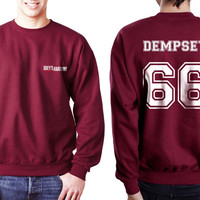 Dempsey 66 White Ink on Back Greys Anatomy Logo Pocket on Front Unisex Crewneck Sweatshirt