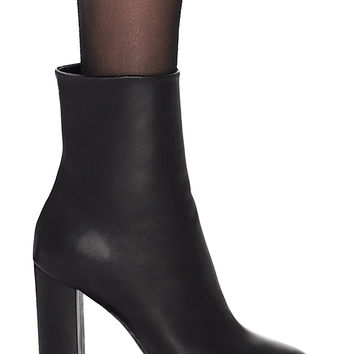 Saint Laurent Lou Pin Ankle Boots in Black | FWRD