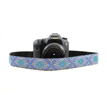 CASLR15-MSEA Moroccan Sea 1.5In Camera Strap - Capturing Couture
