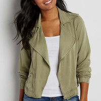 drapey moto jacket | maurices