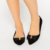 Miss KG Nessy Bow Point Flat Shoes at asos.com