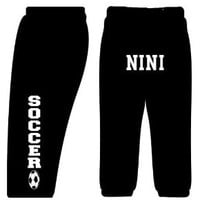 Custom SOCCER Sweatpants-Black-Adult Small