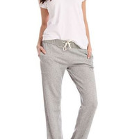 Sweatshirt Knit Lounge Pants in Heather Gray