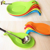 Silicone Spoon Insulation Mat Silicone Heat Resistant Placemat Drink Glass Coaster Tray Spoon Pad Kitchen Accessories