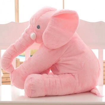 New Plush Baby Soft Elephant Sleep Pillow Large Stuffed Animal Doll Kids Toys