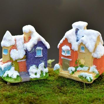 Snow House Decoration Figurine miniature fairy garden ornament