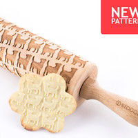 Jack Russell Terrier - Embossed, engraved rolling pin for cookies