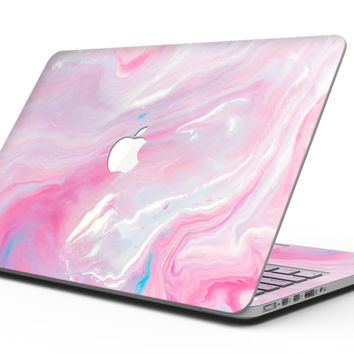 Marbleized Pink Paradise V8 - MacBook Pro with Retina Display Full-Coverage Skin Kit