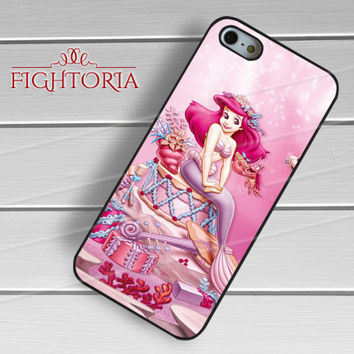 The Little Mermaid Ariel Disney Pink - zFzF for  iPhone 6S case, iPhone 5s case, iPhone 6 case, iPhone 4S, Samsung S6 Edge