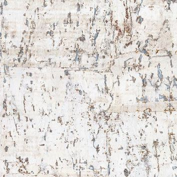 York CX1200 Candice Olson Dimensional Surfaces Cork on Metallic Wallpaper