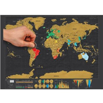 YOLALA Creative Scratch Map with Scratch Off Layer Visual Travel Journal World Map Poster for Education Home Decor Good Gift