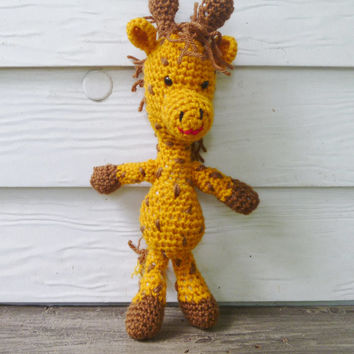 Crochet Amigurumi Giraffe Stuffed Animal/Doll