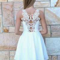 ALL EYES ON ME DRESS , DRESSES, TOPS, BOTTOMS, JACKETS & JUMPERS, ACCESSORIES, 50% OFF SALE, PRE ORDER, NEW ARRIVALS, PLAYSUIT, COLOUR, GIFT VOUCHER,,White,LACE,CUT OUT,SLEEVELESS,MINI Australia, Queensland, Brisbane