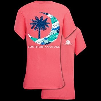 Southern Couture Classic Palmetto Moon T-Shirt