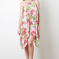Floral Trapezoid Dress