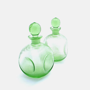 Vintage Perfume Bottles Decanters Two Pair by RosaMeyerCollection