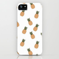 Pineapple Paradise iPhone & iPod Case by Pink Berry Pattern