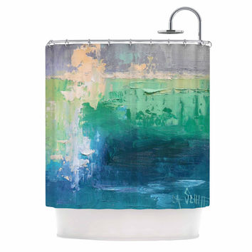 "Carol Schiff ""Sea Music"" Teal Painting Shower Curtain"