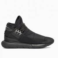 Qasa High sneakers from F/W2015-16 Y-3 by Yohji Yamamoto collection in black