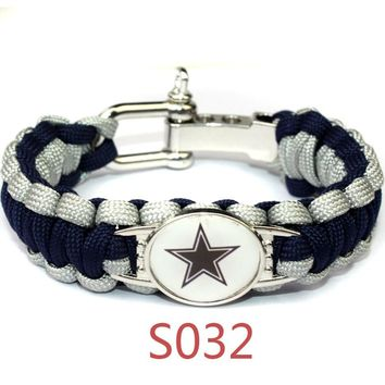 Outdoor Survival Bracelet Adjustable  Bracelet Football Denver broncos Team Outdoor Camping Friendship Bracelet