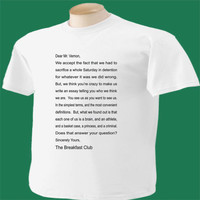 Breakfast Club T-Shirt Letter From Movie Classic Unique Original 1985
