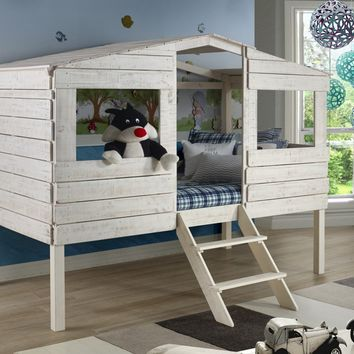Liam White Club House Loft Bed